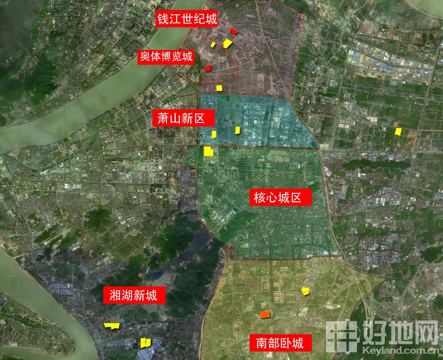 萧山区域划分图图片