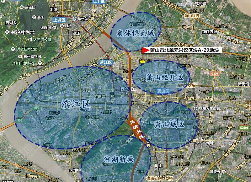 萧山湘湖风景区地图